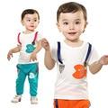 Anlencool Бесплатная доставка летом новый короткими рукавами костюмы милый маленький рыба наборы одежда для новорожденных baby мальчик летние комплекты одежды