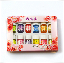 12pcs Brand New Essential Oils Pack for Aromatherapy Spa Bath Massage Skin Care Lavender Oil With 12 Kinds of Fragrance