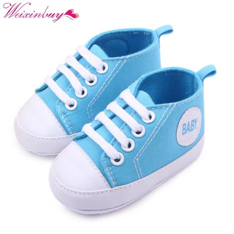 Nouveau doux infantile nouveau-né bébé garçon fille enfant chaussures à semelle souple Sneaker nouveau-né 0-12 mois