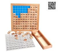 April Du Wooden Montessori Teaching Aids Math 1 - 100 Consecutive Numbers Counting Board Plate Toy
