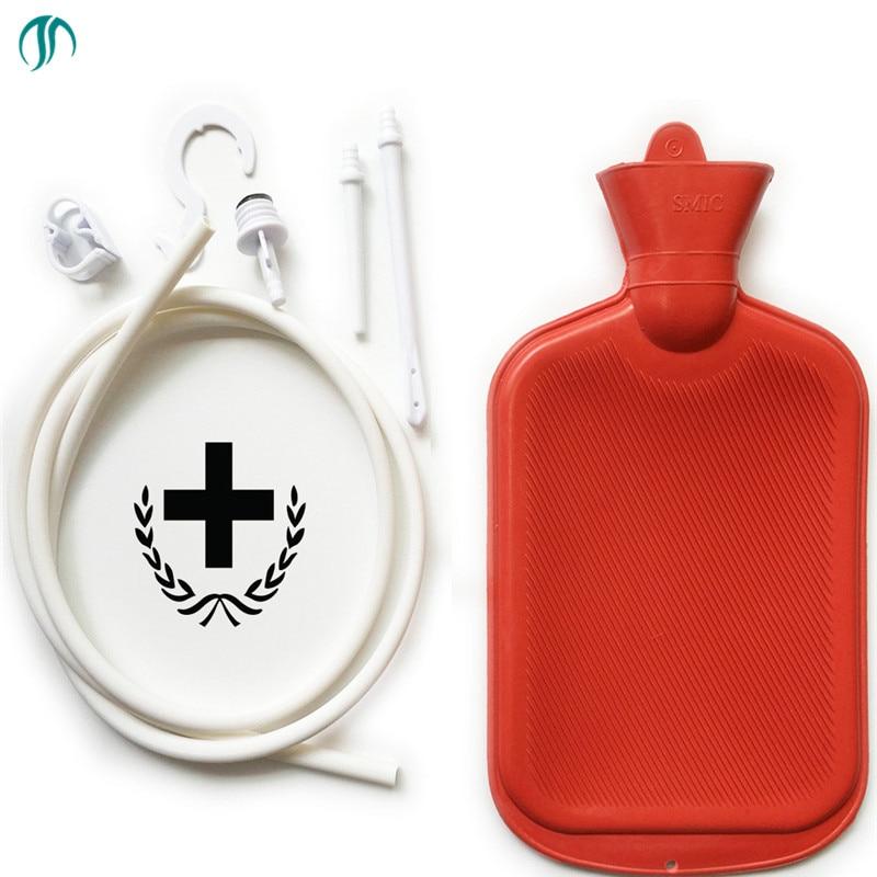 цена на 2000ml Non-Toxic Colon Enema Kit Cleanse Reusable Colonic Kit Anal Enema Bag Irrigator Shower Douche for Men Women Enema Kit Bag