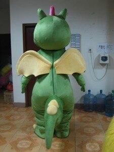 Image 5 - Костюм талисмана зеленого динозавра, карнавальный костюм Зеленого дракона для взрослых, вечерние костюмы на Хэллоуин