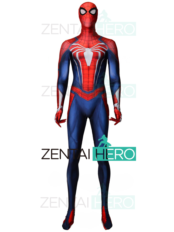2018 NEW Insomniac Spider-man Costume PS4 Game Spiderman Costumes 3D Printing Halloween Cosplay Spiderman Suit For Adult/Kids