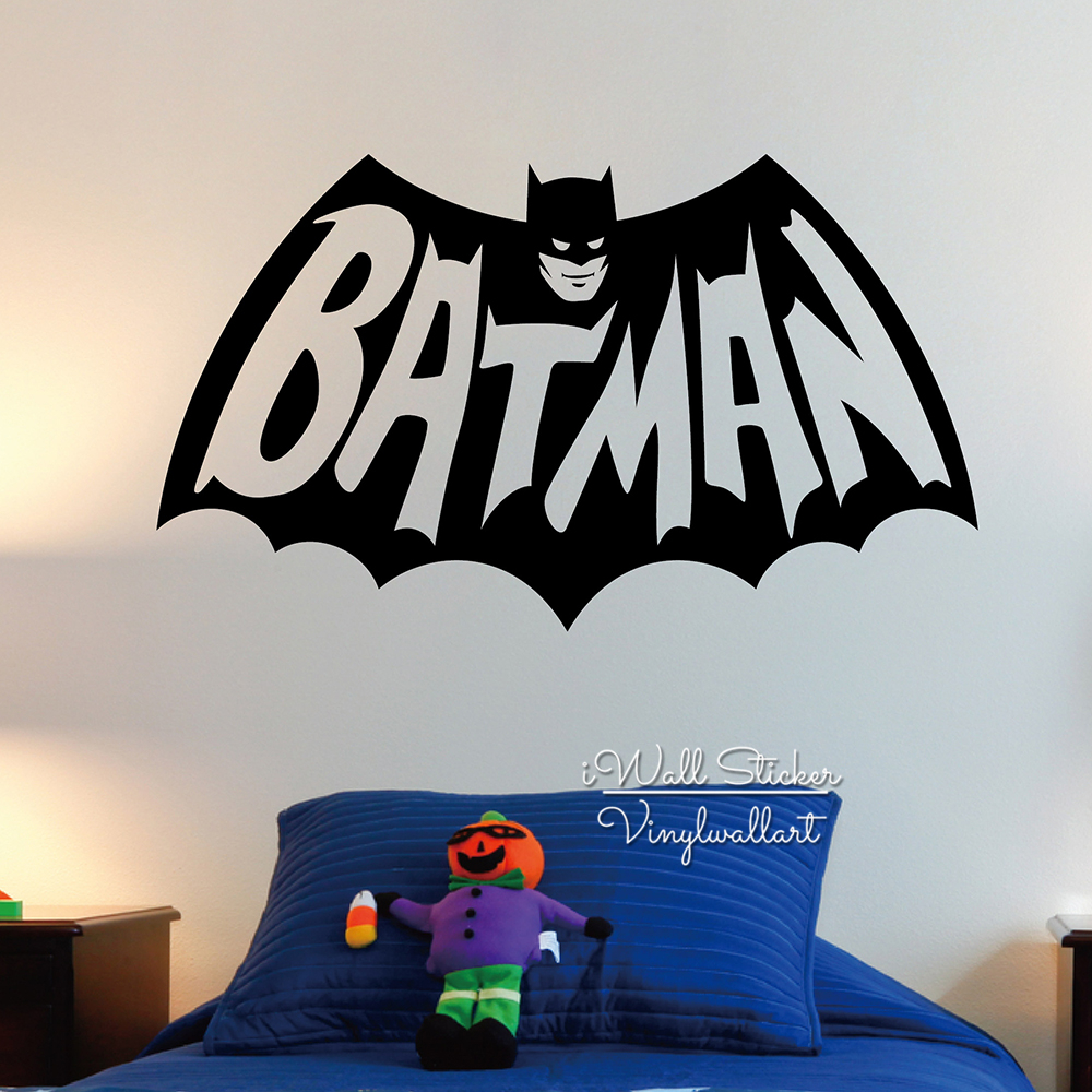 Aliexpress buy baby nursery batman wall sticker boys batman aliexpress buy baby nursery batman wall sticker boys batman wall decal children wall sticker for kids room diy easy wall art cut vinyl n17 from amipublicfo Choice Image