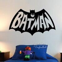 Baby Nursery Batman Muursticker Jongens Batman Muurtattoo Kinderen Muur Sticker Voor Kinderkamer DIY Gemakkelijk Wall Art Cut Vinyl N17