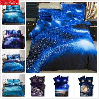 Galaxy 3D Pattern Creative Kid Student 2/3/4 pcs Bedding Set Cotton Bed Linens High Quality Single Full Queen Size Duvet Cover