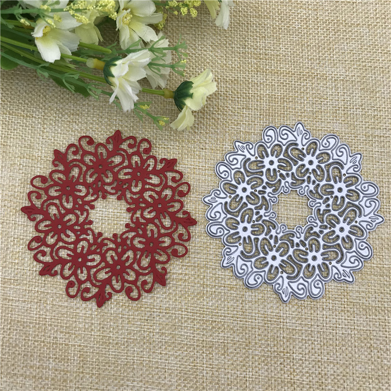 Hollow Circle Lace Metal Cutting Dies For DIY Scrapbooking Album Embossing Paper Cards Decorative Crafts