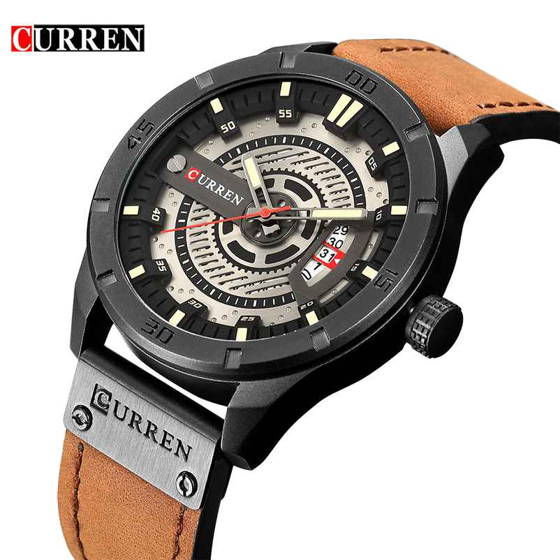 CURREN 8301 Mens Watches Top Brand Luxury Watch Men Date Leather Creative Quartz Wrist Watches Relojes Hombre relogio masculino стоимость