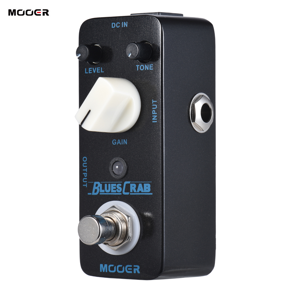 MOOER BLUES CRAB Blues Overdrive Guitar Effect Pedal True Bypass Electric Guitar Pedal Full Metal Shell
