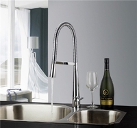 Freeshipping Kitchen Faucets With Plumbing Hose All Around Rotate Swivel 2 Function Water Outlet Mixer Tap