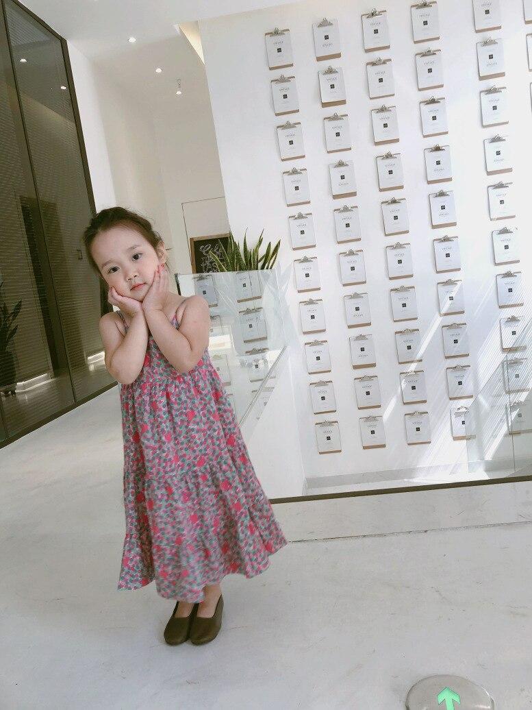 2019 nouveau motif de fleurs imprimé bébé filles robe Floral imprimé fête Boutique été jarretelle robe pour filles vêtements