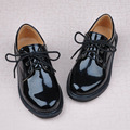 Male child black leather child leather male formal dress flower children shoes single shoes student leather