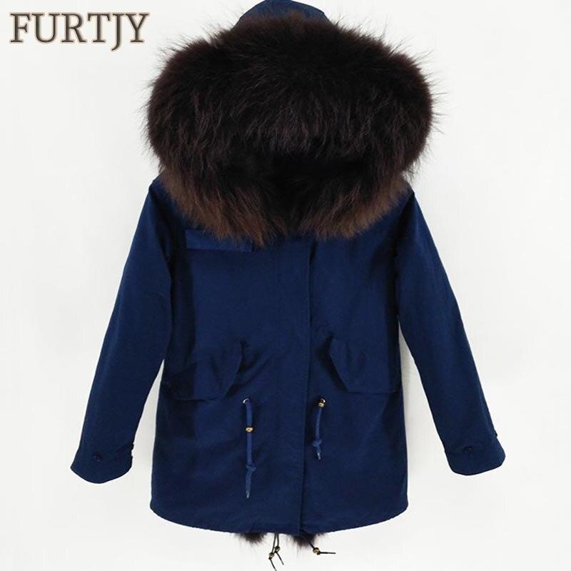 Hommes vestes réel raton laveur fourrure manteaux fausse fourrure Ling hiver longue Parka épaisse fourrure naturelle neige vêtements chaud vêtements épais grande taille