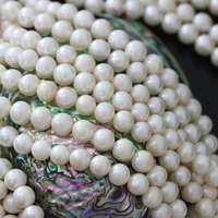 Top Quality Natural White Freshwater Pearl Beads Approx Round Fashion Loose Hot Sale Jewelry Making 15inch