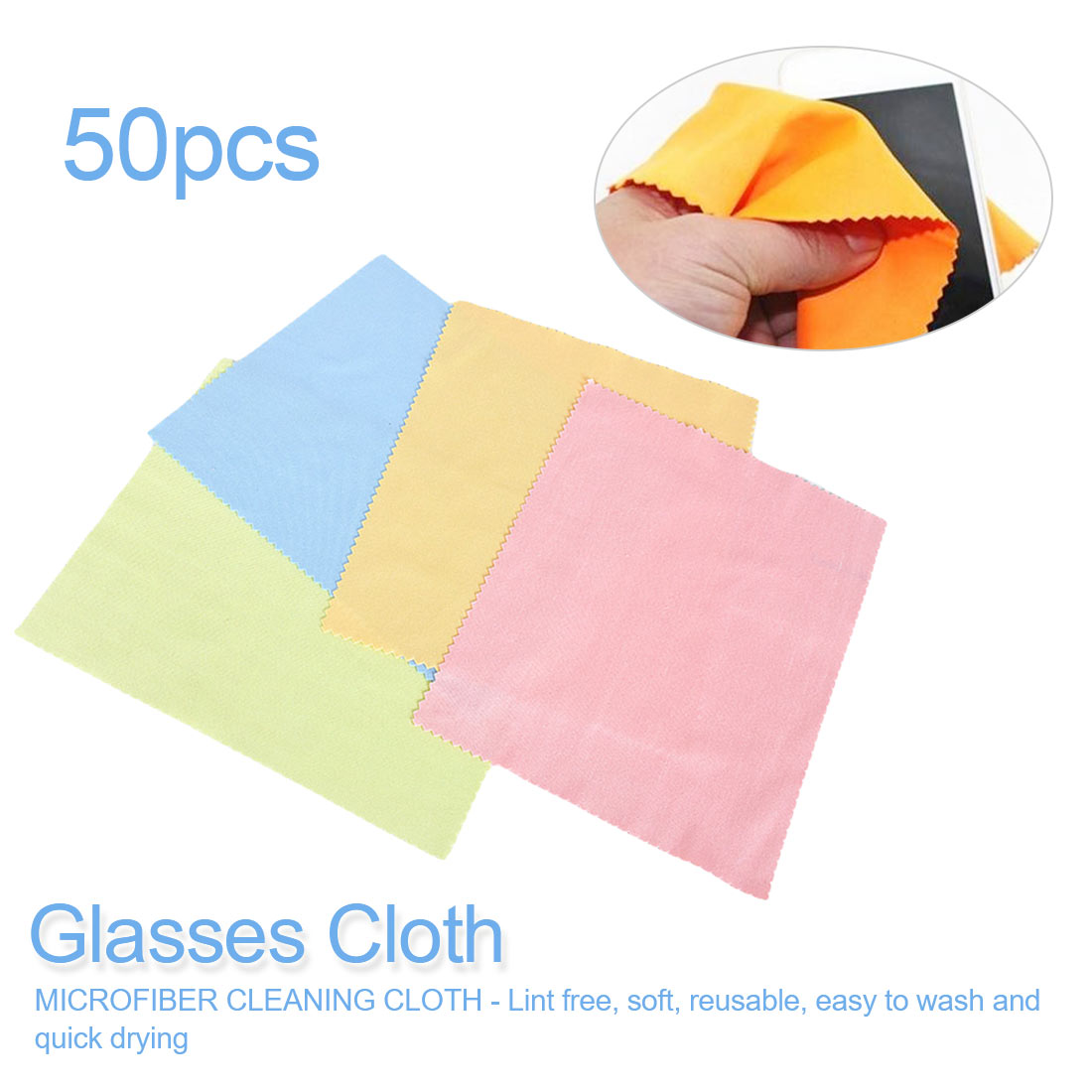 Random Color 50Pack Silver Polish Cleaning Polishing Cloth With Package Cleaning Cloth Wiping Cloth Of Silver Jewelry Suede