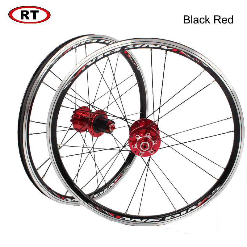 "Image 4 - 20"" Folding Bike Wheels Front Rear wheels set 100/135mm V&Disc brake 451/406 7 10s Aluminum Rims For BMX Bicycle Wheelset-in Bicycle Wheel from Sports & Entertainment"