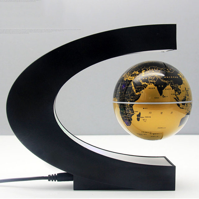 C-Shape Floating Globe with LED Light