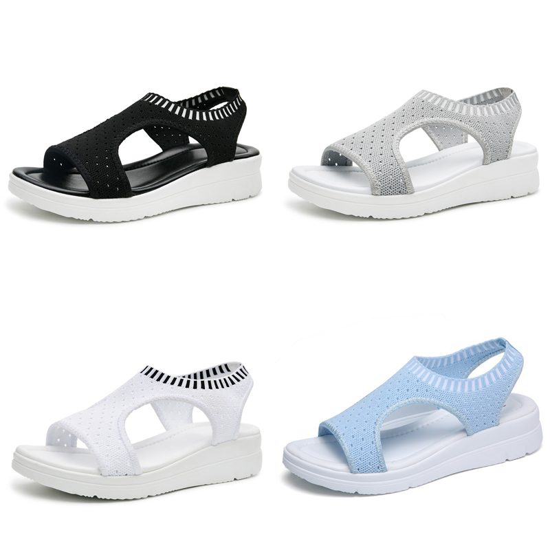 7aee4944cd4 TKN Women Sandals 2019 New Female Shoes Woman Summer Wedge Comfortable Sandals  Ladies Slip on Flat Sandals Women Sandalias QS808-in Middle Heels from Shoes  ...