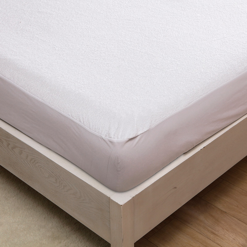 1pc Queen Size Premium Hypoallergenic Terry Material Waterproof Mattress Protector Cover For Bed Wetting And Bug Suit