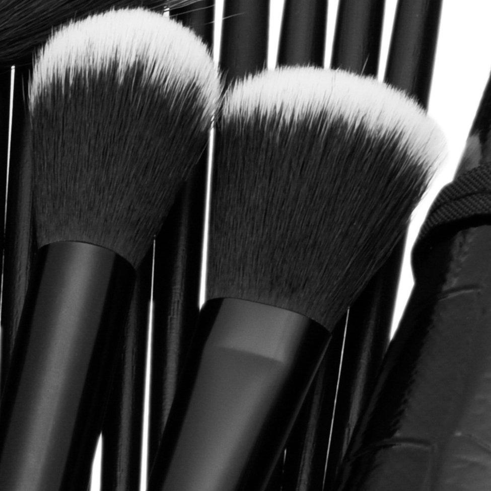 32 pièces Pro de luxe artiste maquillage brosse ensemble chèvre cheveux synthétiques cheveux cosmétiques brosses