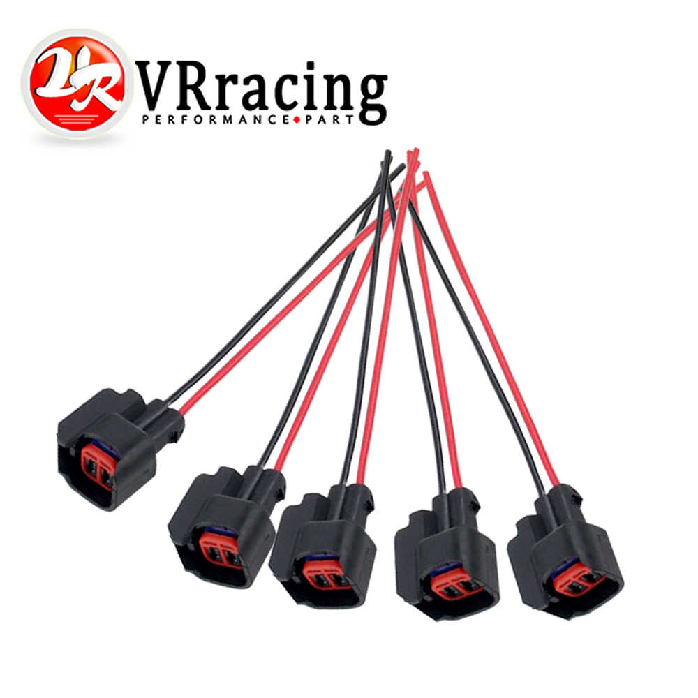 VR - 5PCS/SET INJECTOR DYNAMICS EV6 Pigtail Clip Connector Fuel Injector  Connectors For many cars EV6 Injector Plug FIC13