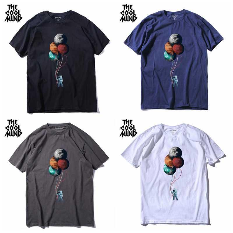 Coolbrain MO0117A 100% cotone manica corta casual allentato o-collo uomo T-shirt casual estate cool T shirt maglietta allentata tee shirt