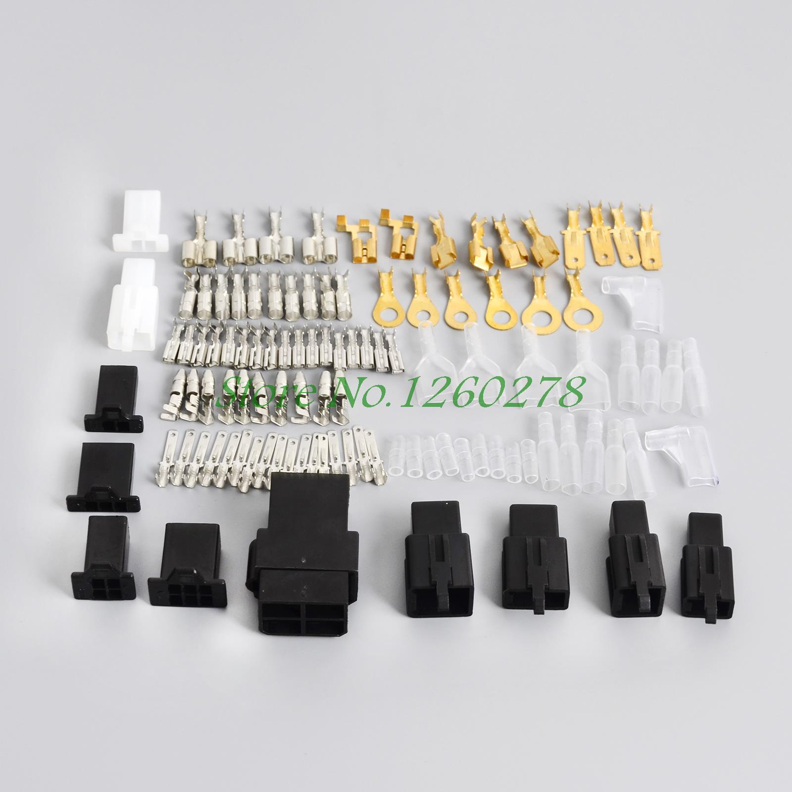 Universal Motorcycle Electrical Wiring Harness Loom Repair Kit Plugs Bullets For Honda Yamaha Suzuki Kawasaki New universal motorcycle electrical wiring harness loom repair kit universal motorcycle wiring harness at gsmx.co