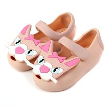 Fashion Design Girls anti skid Sandals Children Jelly Shoes cute cat jelly Sandals Kids soft Shoes 14.4-17.6cm