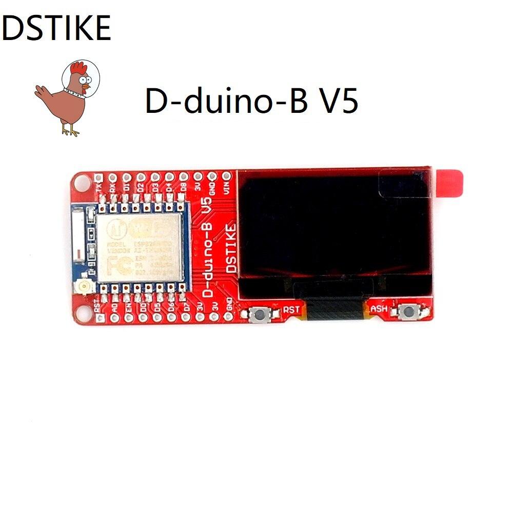 DSTIKE WiFi Paket Monitor (Preflashed D-duino-B V5) ESP8266 + OLED + 2dBi Antenne ESP-07 NodeMCU IOT Funk Development Kit
