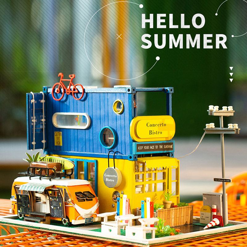 Maison de poupée bricolage miniature maison de poupée jouets pour enfants en bois maison de poupée meubles numéro de modèle k-039