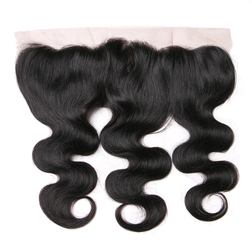 Queenlike 130 Density Natural Color Free Part With Natural Hairline Remy Human Hair Body Wave 13x4
