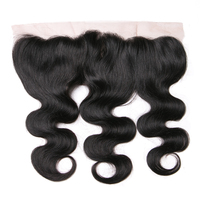 Queenlike 130% Density Natural Color Free Part With Natural Hairline Remy Human Hair Body Wave 13x4 Ear to Ear Lace Frontal