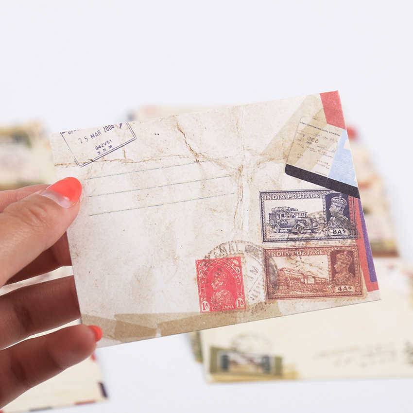 12 stks/partij Mini Leuke Kawaii Papier Envelop Retro Vintage Europese Stijl voor Kaart Koreaanse Briefpapier