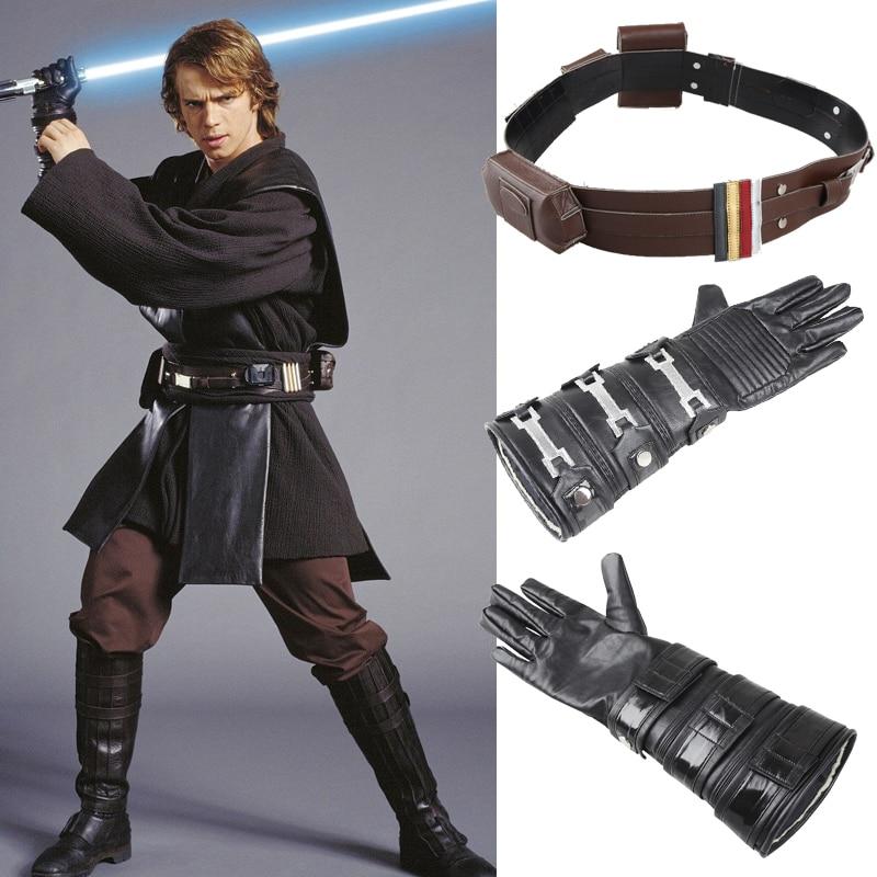 2017 Star Wars Force Awakens Anakin Skywalker Cosplay Costume Accessories Anakin Skywalker Cosplay Belt Waistband Glove