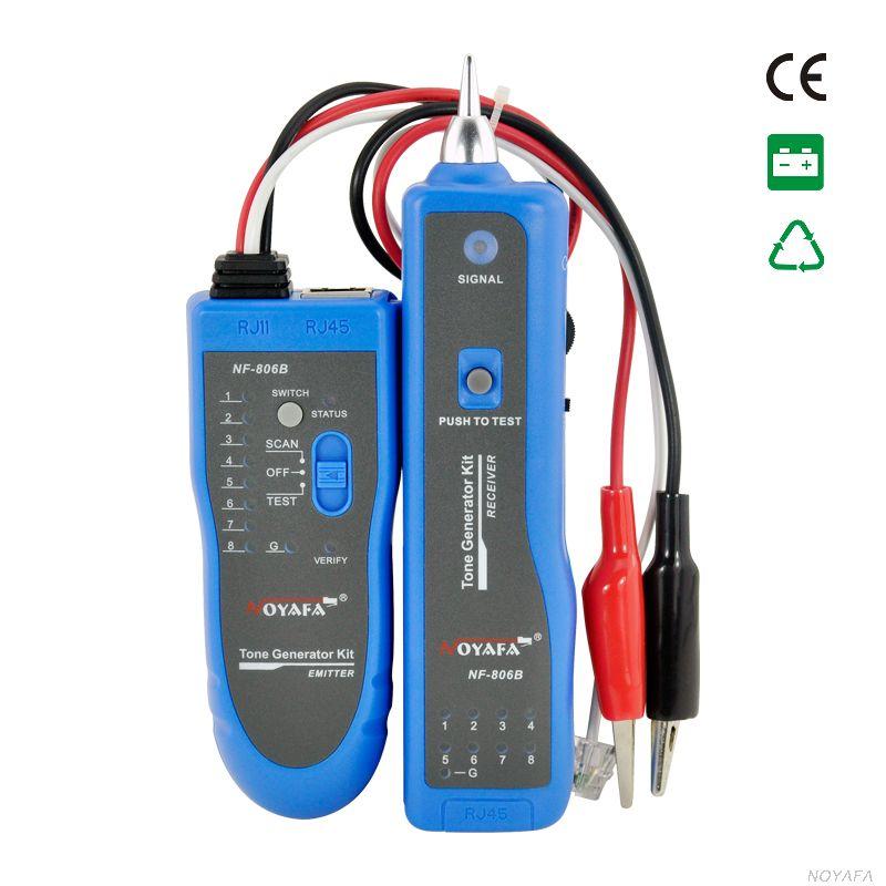 Original Noyafa NF-806 téléphone fil Tracker diagnostiquer tonalité trousse à outils LAN réseau câble testeur Cat5 Cat6 RJ45 UTP STP détecteur de ligne