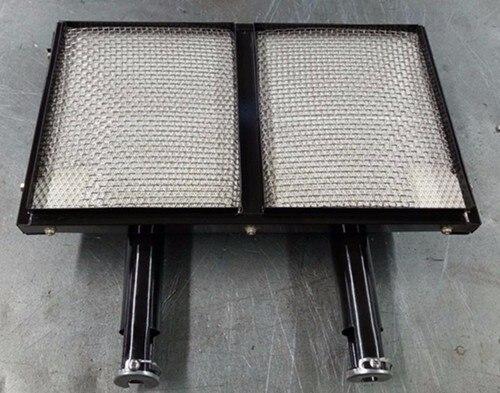 Brûleur infrarouge de carreaux de céramique de cordiérite émaillés adaptés aux besoins du client de nouvelle conception, grand brûleur infrarouge de gaz de plaque en céramique de nid d'abeilles carré