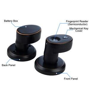 Image 5 - RAYKUBE Knob Electronic Lock Fingerprint Smart Keyless Deadbolt Lock For Home Office Easy Installtion Replaced R S178