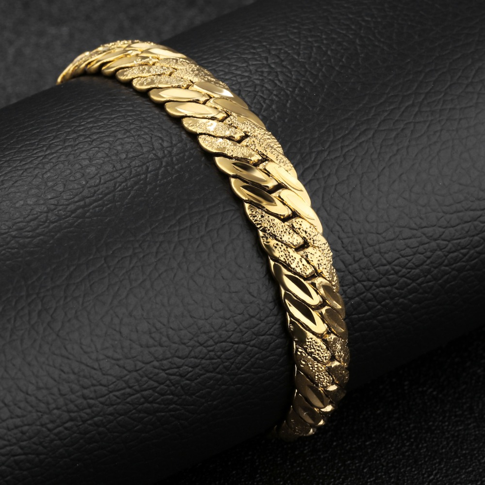 Europe and the United States punk gold bracelet man polishing 21 cm length of 11 mm wide bracelet KS488 male snakes