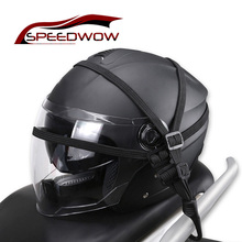 SPEEDWOW Motorcycle Bicycle Retractable Helmet Luggage Elastic Rope Strap With 2 Hooks Luggage Mesh Web Bungee Cargo Net blue motorcycle parts helmet web cargo net mesh fit for honda magna750 vf750cr cs cds 1993 1994 1995
