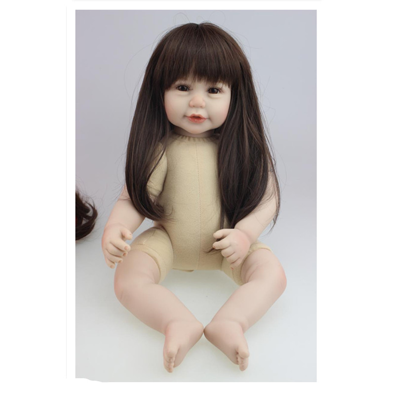 45CM Realistic Silicone Girls Doll Naked Doll Toys for Children Christmas Gift,18 Inch Lifelike Baby Princess Doll hot newest 18 inch handmade vinyl doll bjd doll with dress beautiful princess doll toy for children christmas gift
