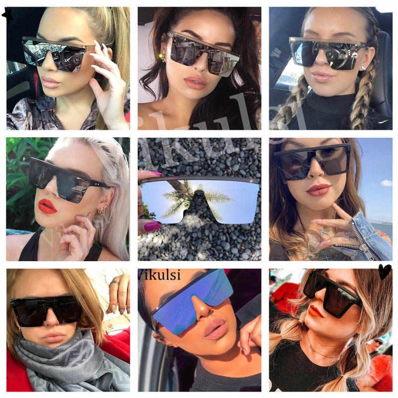 Unisex แฟชั่น 2019 สุภาพสตรีแว่นตากันแดดผู้หญิง Oversized Shades VINTAGE ยี่ห้อ Designer กระจกเงาดวงอาทิตย์แว่นตาสำหรับหญิง