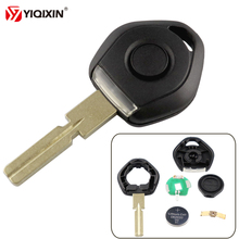 YIQIXIN Old Style Key For Bmw 3 5 7 Z3 E36 E34 E38 E39 Transponder Shell Remote Car Case 4 Track HU58 With LED Light