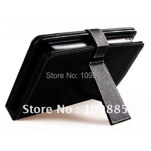 Free shipping!Tablet holder - Leather case with USB mini Keyboard for 9 inch Tablet PC