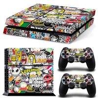 Bomb граффити для PS4 виниловая кожа Наклейка чехол для PS4 Playstation 4 консоль + 2 контроллера наклейка Аксессуары для игр