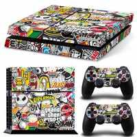 Bomba Graffiti Per PS4 Vinyl Sticker Copertura Della Pelle Per PS4 Playstation 4 Console + 2 Controller Decal Accessori del Gioco