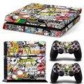 Bomba Graffiti para PS4 vinilo piel pegatina cubierta para PS4 Playstation 4 consola + 2 controlador calcomanía juego Accesorios