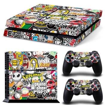 Bombe Graffiti pour PS4 vinyle peau autocollant couverture pour PS4 Playstation 4 Console + 2 contrôleur décalque accessoires de jeu