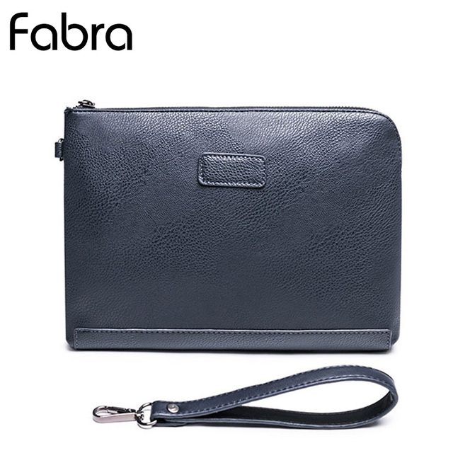 ee8f859d288 Fabra New Pu Leather Men Clutches Envelope Small Casual Men Blue Handbag  Day Clutches Casual Hand Big Clutch Bags 28*1*21 Cm