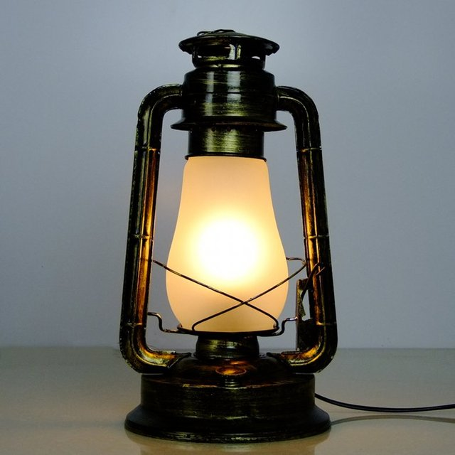 Fashion kerosene, table lamp nostalgic vintage kerosene lamp chinese style lantern old furniture kerosene, electric light table