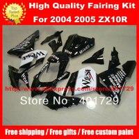 Motorcycle Bodywork For Ninja WEST Free Custom Paint Racing Fairing Kit ZX10R 04 05 ZX 10R